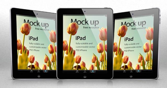 Mockup del nuevo iPad en PSD. Gratis