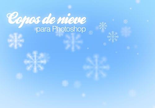 Copos de nieve para photoshop