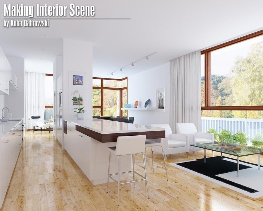 Tutorial 3D. Modelado, setup y render de una escena interior