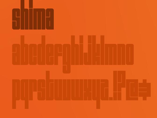 shima fuente para diseño