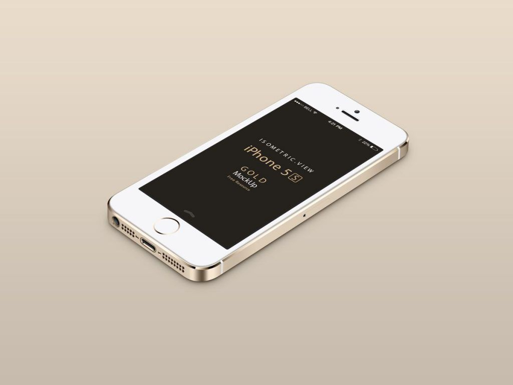 03-Gold-iPhone-5S-Isometric-view-Mock-up