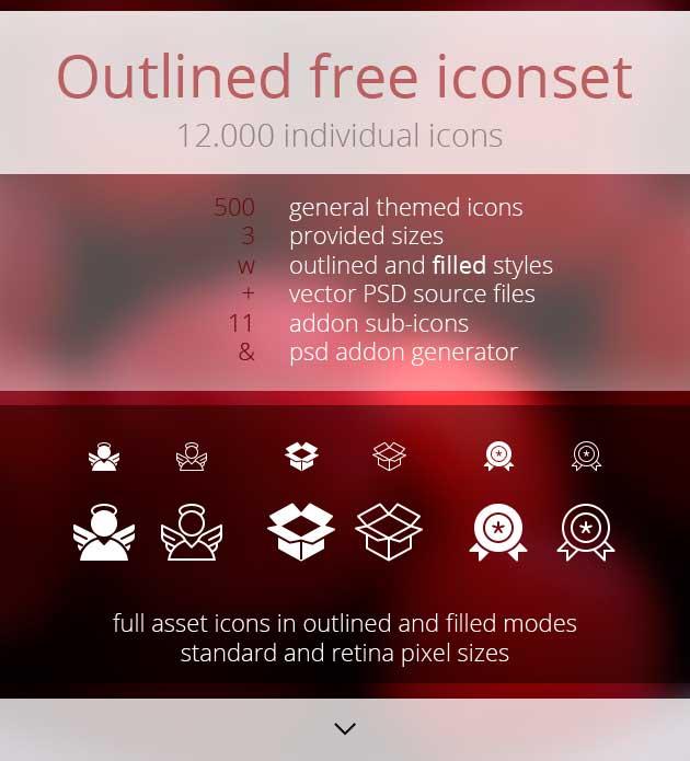 Set de iconos de lineas gratis