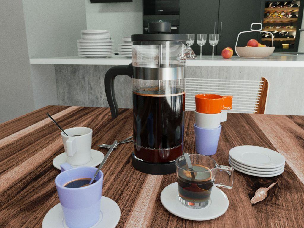Modelos 3D gratis Juego de Café